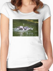 Penguin #1 Women's Fitted Scoop T-Shirt