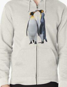King Penguins, South Georgia Zipped Hoodie