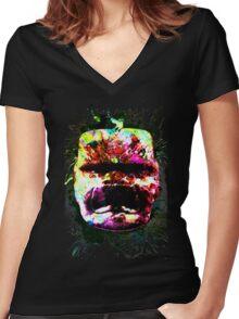Applying jade Women's Fitted V-Neck T-Shirt