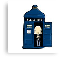 DOCTOR WHO IN TARDIS FIRST DOCTOR Canvas Print