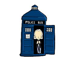 DOCTOR WHO IN TARDIS FIRST DOCTOR Photographic Print