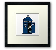DOCTOR WHO IN TARDIS SECOND DOCTOR Framed Print