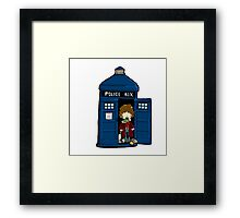 DOCTOR WHO IN TARDIS FOURTH DOCTOR Framed Print