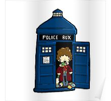 DOCTOR WHO IN TARDIS FOURTH DOCTOR Poster