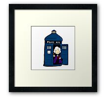 DOCTOR WHO IN TARDIS THIRD DOCTOR Framed Print