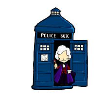 DOCTOR WHO IN TARDIS THIRD DOCTOR Photographic Print