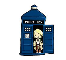 DOCTOR WHO IN TARDIS FIFTH DOCTOR Photographic Print