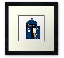 DOCTOR WHO IN TARDIS SEVENTH DOCTOR Framed Print