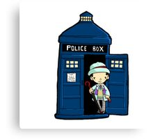 DOCTOR WHO IN TARDIS SEVENTH DOCTOR Canvas Print