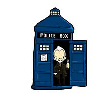 DOCTOR WHO IN TARDIS WAR DOCTOR Photographic Print