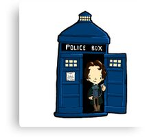 DOCTOR WHO IN TARDIS EIGHTH DOCTOR Canvas Print