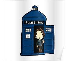 DOCTOR WHO IN TARDIS EIGHTH DOCTOR Poster