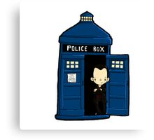 DOCTOR WHO IN TARDIS NINTH DOCTOR Canvas Print