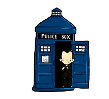 DOCTOR WHO IN TARDIS NINTH DOCTOR Photographic Print