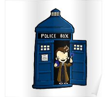 DOCTOR WHO IN TARDIS TENTH DOCTOR Poster