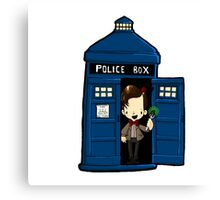 DOCTOR WHO IN TARDIS ELEVENTH DOCTOR Canvas Print