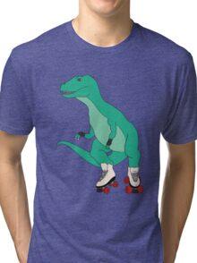 Tyrollersaurus Rex Tri-blend T-Shirt