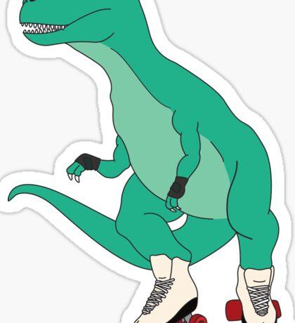 Tyrollersaurus Rex Sticker
