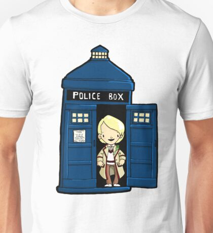 DOCTOR WHO IN TARDIS FIFTH DOCTOR Unisex T-Shirt