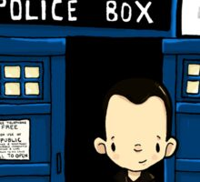 DOCTOR WHO IN TARDIS NINTH DOCTOR Sticker