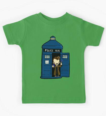 DOCTOR WHO IN TARDIS TENTH DOCTOR Kids Tee