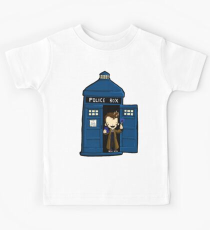 DOCTOR WHO IN TARDIS TENTH DOCTOR Kids Tee