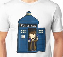 DOCTOR WHO IN TARDIS TENTH DOCTOR Unisex T-Shirt