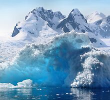 Iceberg in Cierva Cove, Antarctica by Carole-Anne