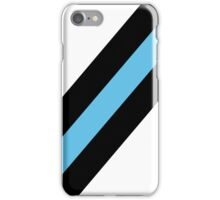 Simplicity  - Black and blue iPhone Case/Skin
