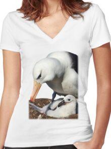 Black-browed Albatross, Falkland Islands Women's Fitted V-Neck T-Shirt