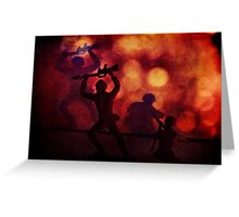 Silhouettes and Shadows Greeting Card