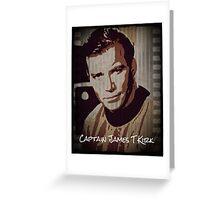 Captain James T Kirk Star Trek Greeting Card