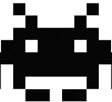 CHEAP space invader retro black by theCHEAPone