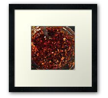 Red Hot Chili Sauce Framed Print
