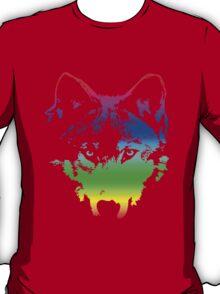 Vector Wolf Stare (Rainbow) T-Shirt