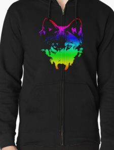 Vector Wolf Stare (Rainbow) T-Shirt