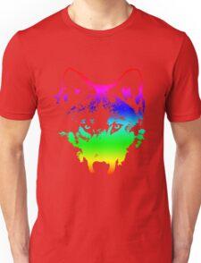 Vector Wolf Stare (Rainbow) Unisex T-Shirt