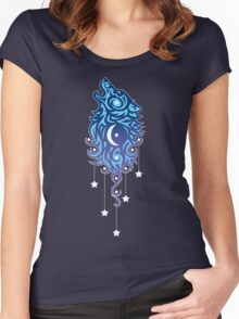 Star Wolf Tribal Women's Fitted Scoop T-Shirt