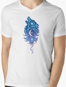 Star Wolf Tribal Mens V-Neck T-Shirt
