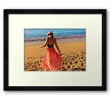 ViVi on the Beach - St. Lucia, Caribbean Framed Print