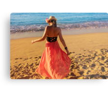 ViVi on the Beach - St. Lucia, Caribbean Metal Print