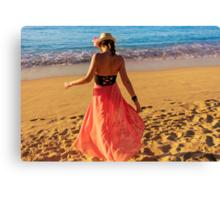 ViVi on the Beach - St. Lucia, Caribbean Canvas Print