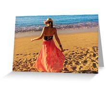 ViVi on the Beach - St. Lucia, Caribbean Greeting Card