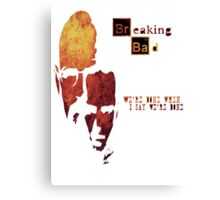 Breaking Bad - Walter And Jesse Awesome Design! Canvas Print
