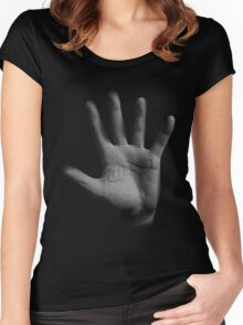 Hello Hand Women's Fitted Scoop T-Shirt