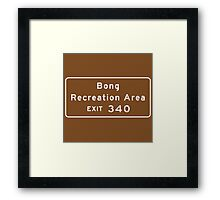 Bong Recreation Area, Road Sign, Wisconsin Framed Print