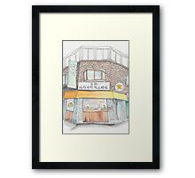 Tiny homemade castella cake shop Framed Print