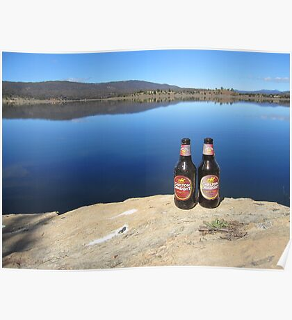Beer by the Water Poster