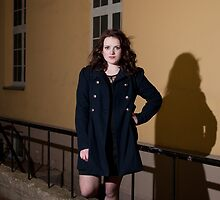 Portrait at night by Anete Bauere