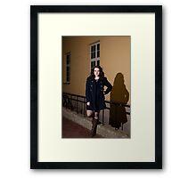 Portrait at night Framed Print